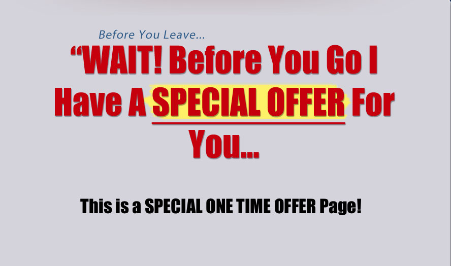 pagina one time offer